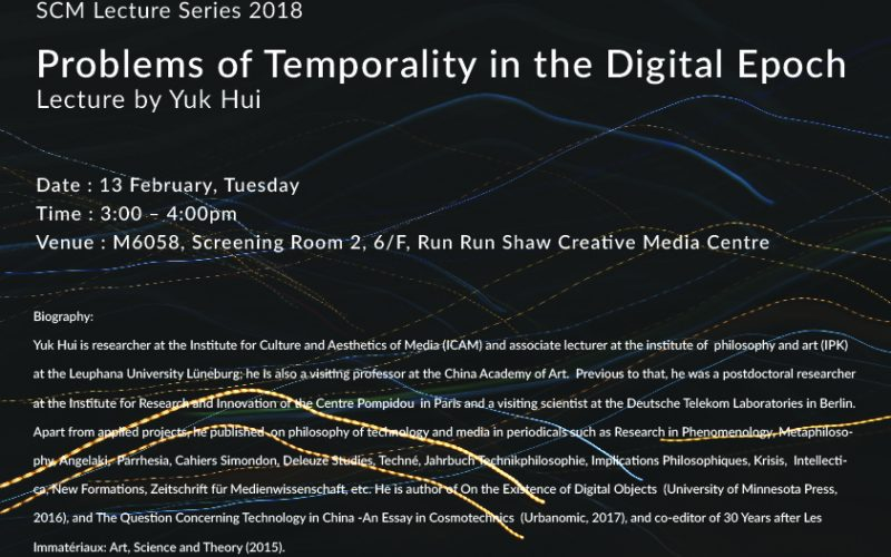 Lecture: Problems of Temporality in the Digital Epoch
