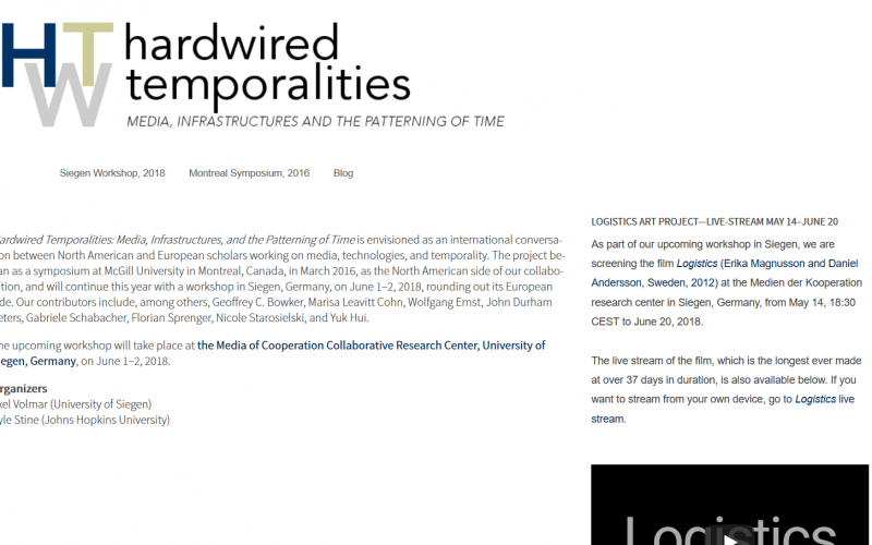 Lecture: Hardwired Temporalities: Media, Infrastructures, and the Patterning of Time